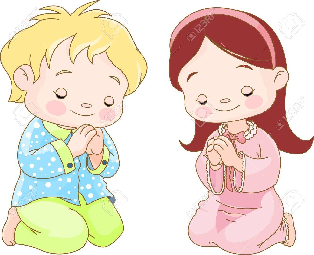banner free download Cute children kneeling and. Kids prayer clipart