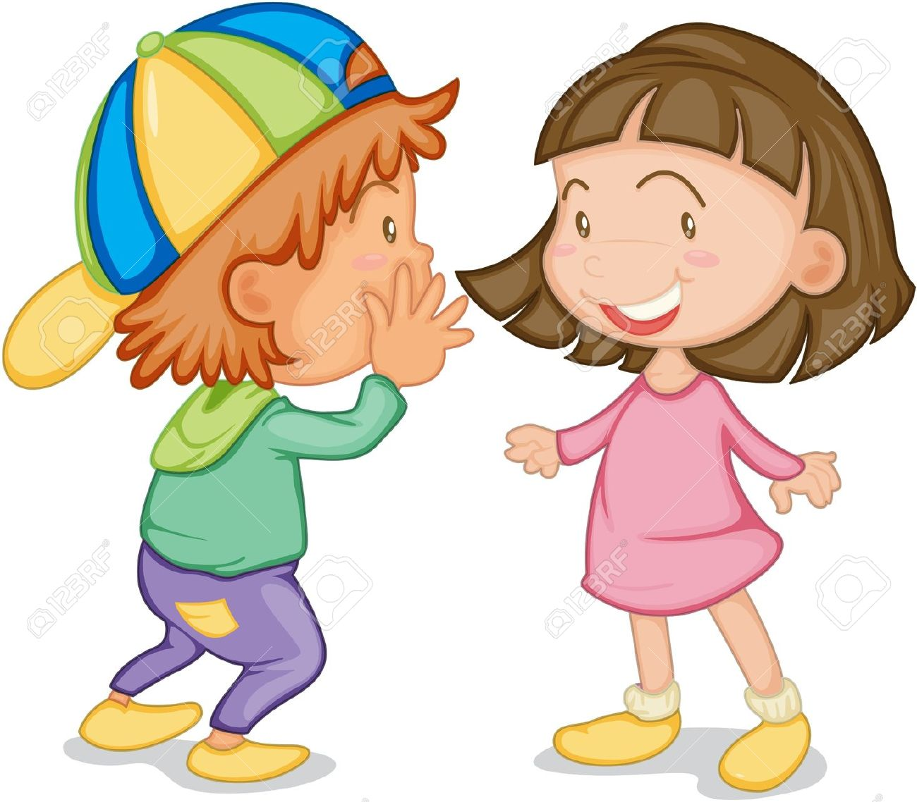 picture free stock Clipart kids talking. Free download best