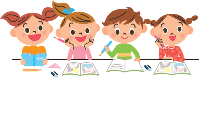 vector transparent download children studying clipart #60901806
