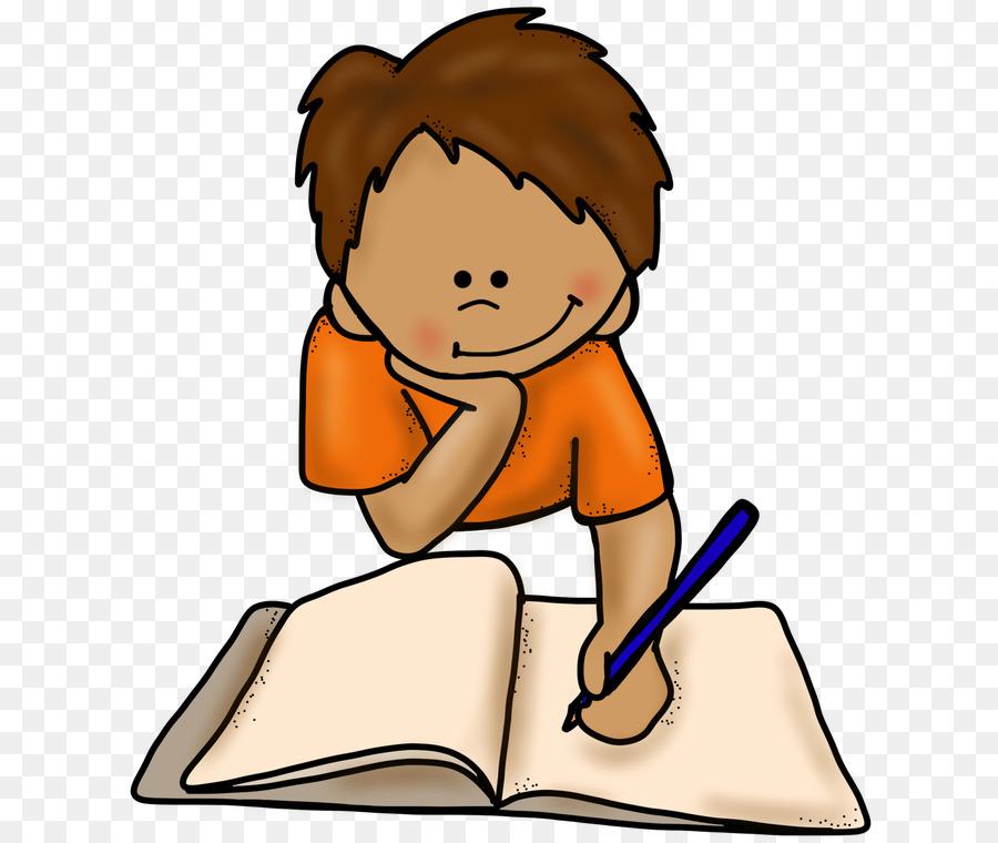 vector transparent stock Writer clipart cartoon. Boy writing child transparent
