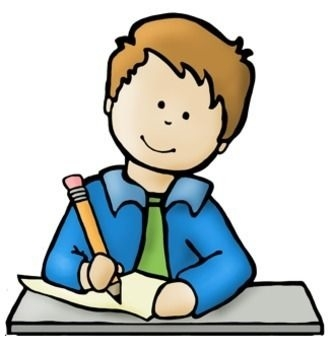 clip free Child writing clipart. Big kids and technology
