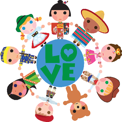 clip free download Children of the World on a Love Globe