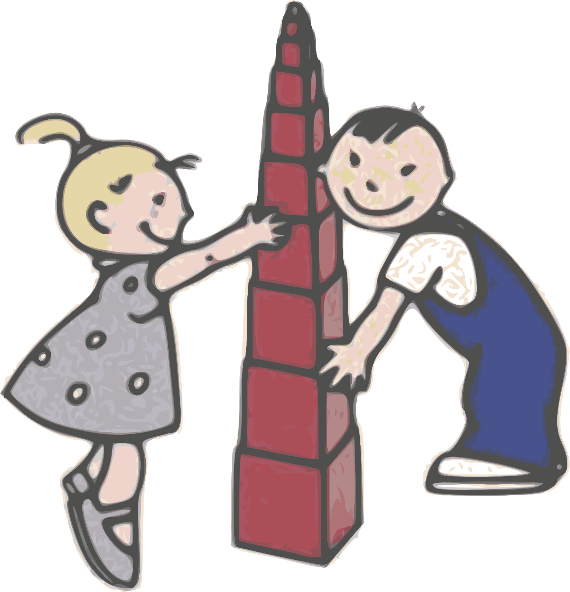 library Play with tower giancarlo. Clipart kids playing