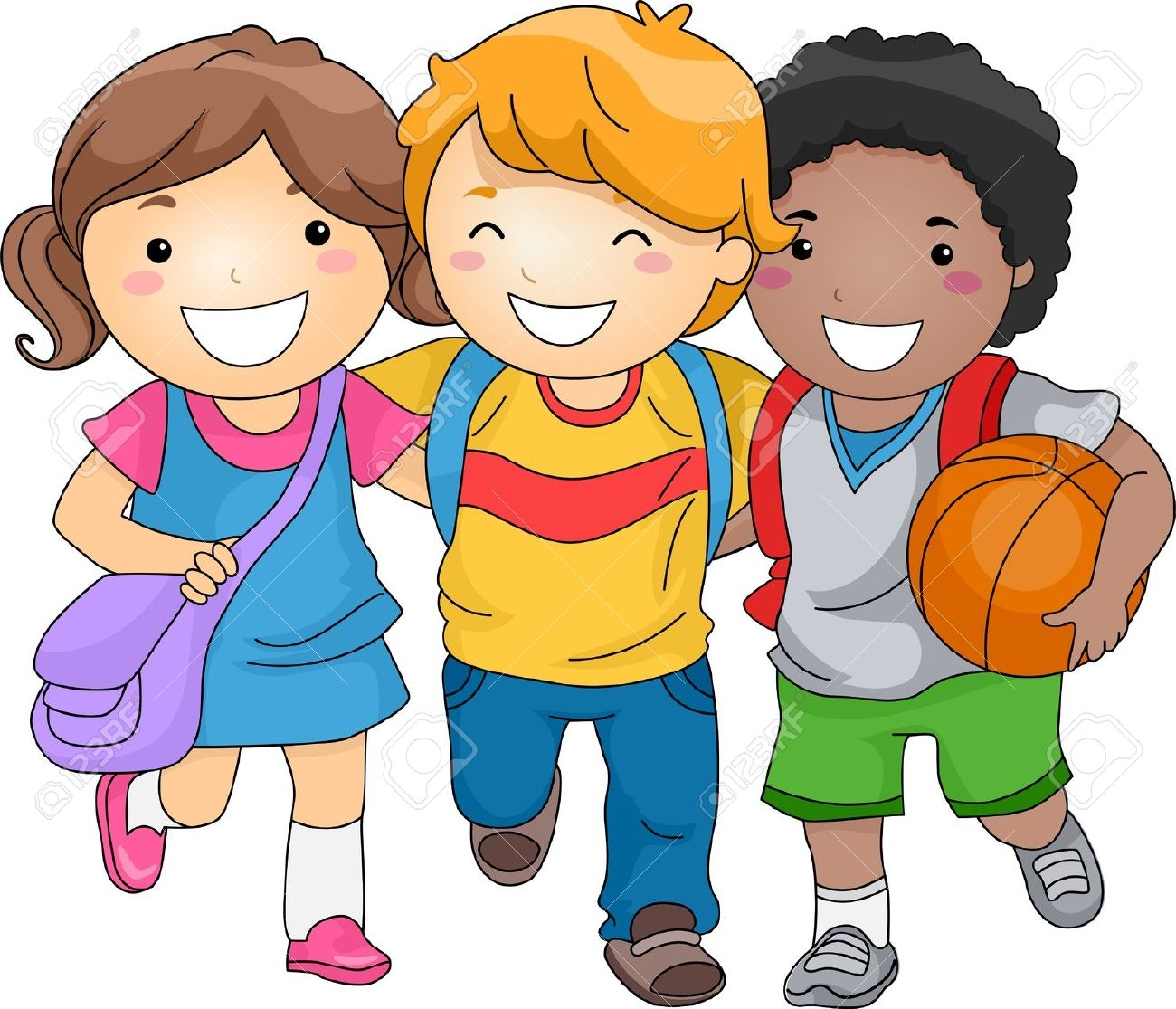clip art freeuse Kids being station . Be kind clipart