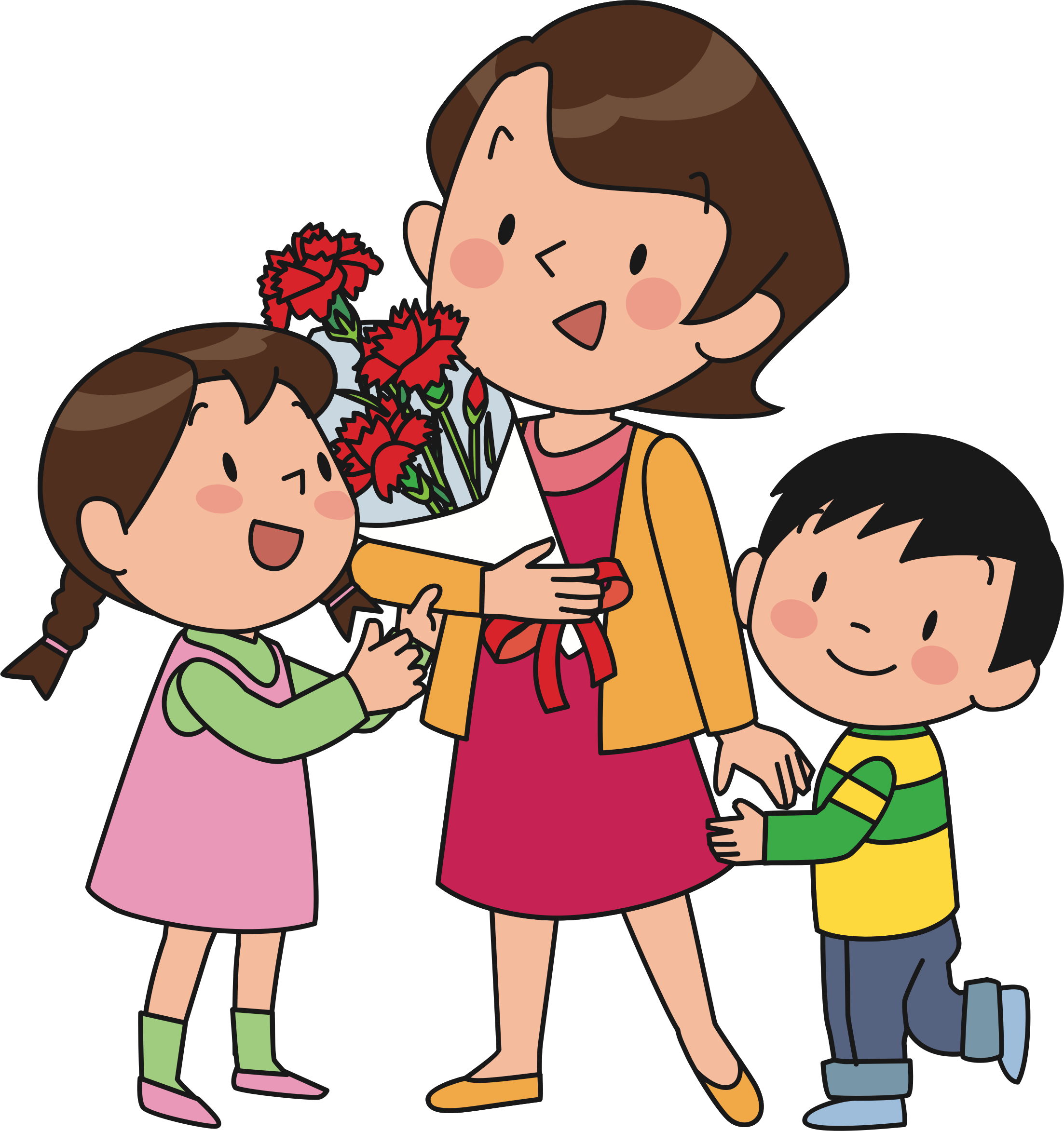 jpg free stock And children big image. Mother clipart.