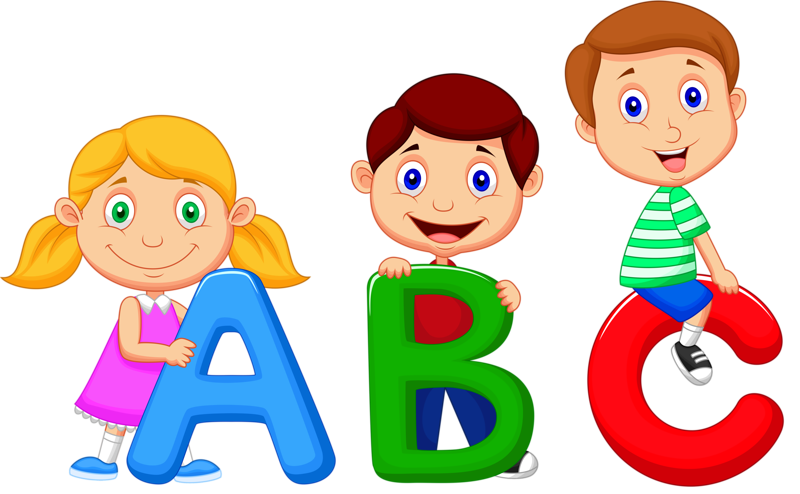 jpg black and white library Alphabet song Cartoon Clip art