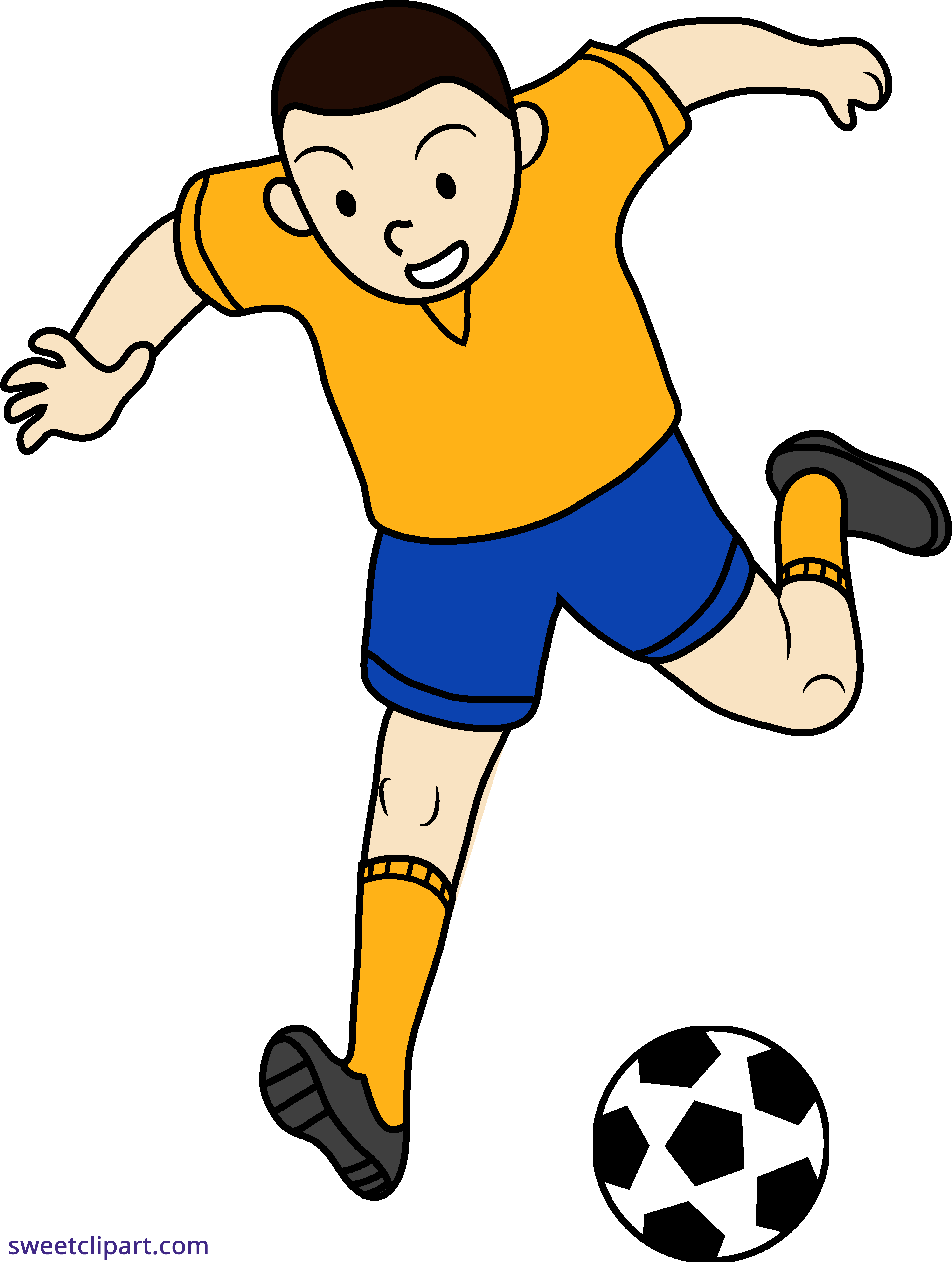 vector free library Soccer futbol kid sweet. Action clipart football player