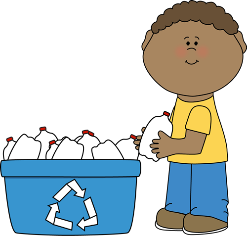 clip download Boy plastic bottles postacie. Children clipart recycling.