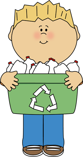 jpg transparent library Children clipart recycling. Boy carrying a recyle.