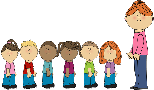 clip art stock  collection of children. Students in line clipart
