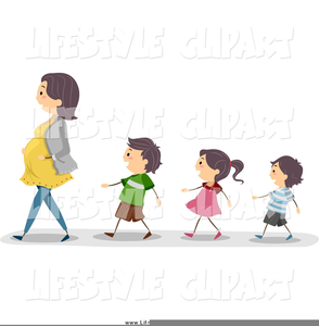 clipart black and white Walking in line clipart. Kids free images at.