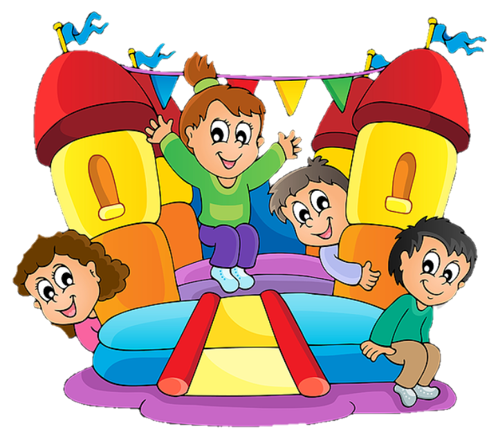 image free stock Kids playing on playground clipart. Children