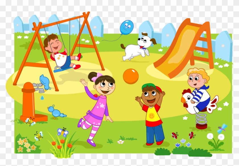 png black and white download Kids playing on playground clipart.  huge freebie download