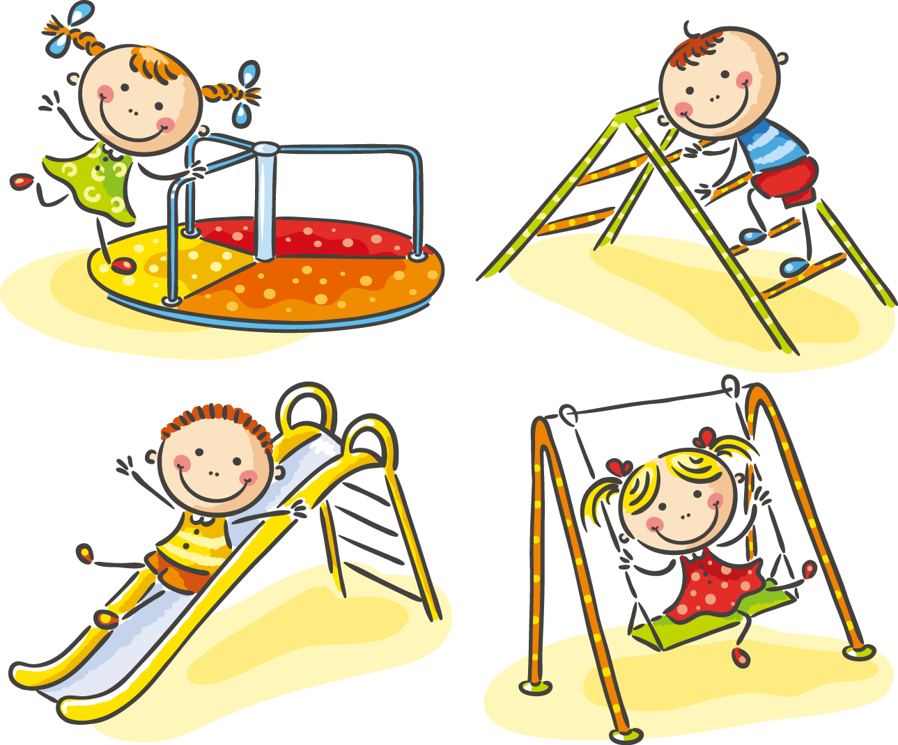 royalty free download Child stock photography cute. Kids playing on playground clipart