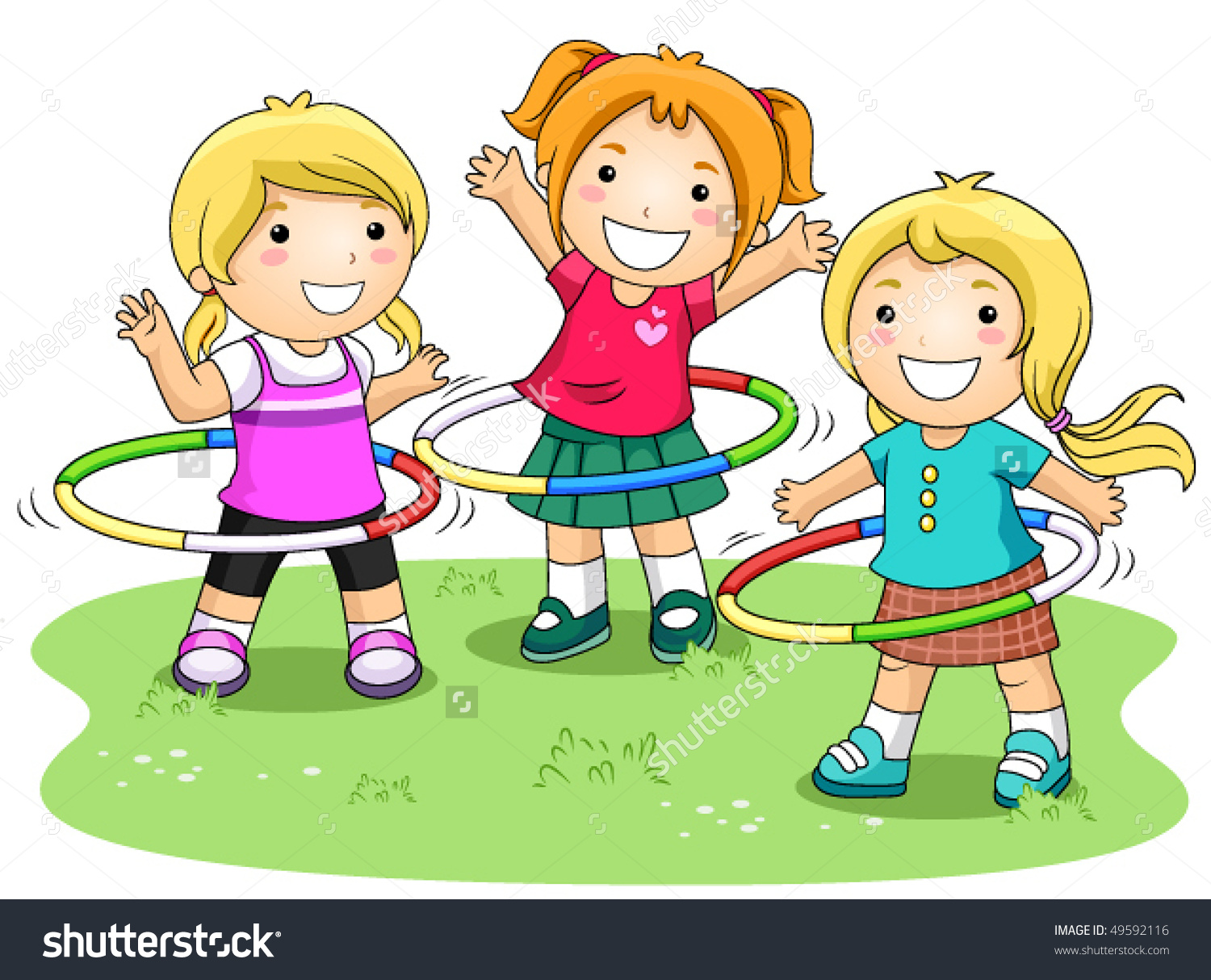 vector freeuse stock Kids playing outside clipart. Children station