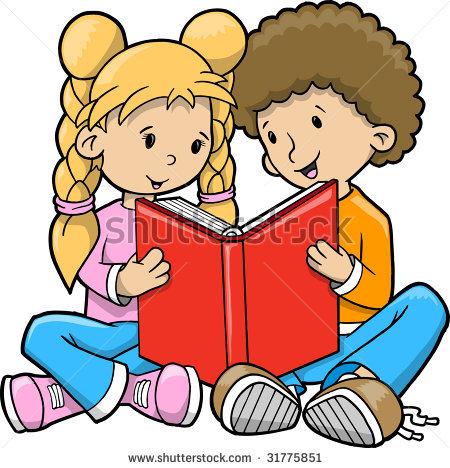 jpg Free clip art children. Clipart kids reading
