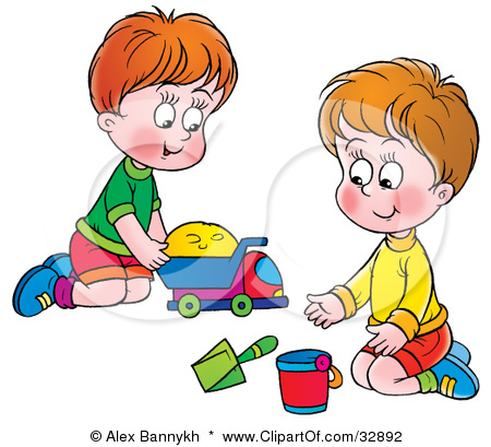 clipart free download  clip art clipartlook. Kids sharing toys clipart