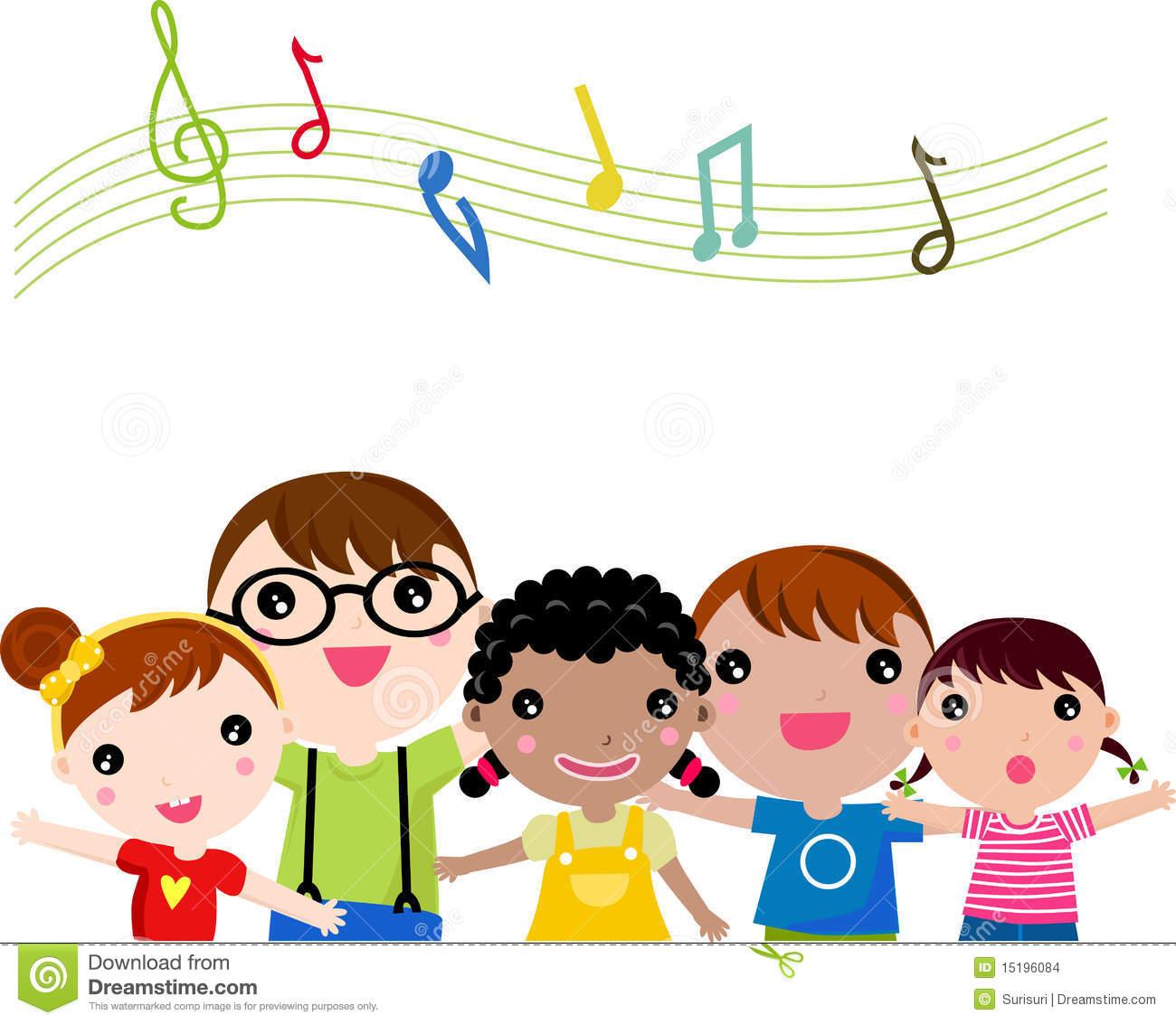 clip transparent download Kids singing clipart.  children clipartlook