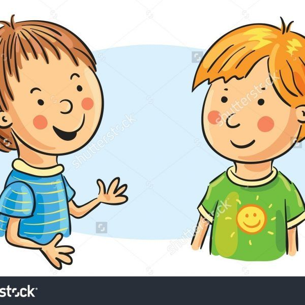svg royalty free stock Clipart kids talking. Pin on kind words
