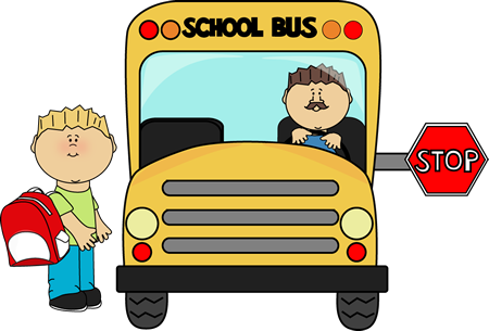 vector stock  collection of children. Bus clipart png.