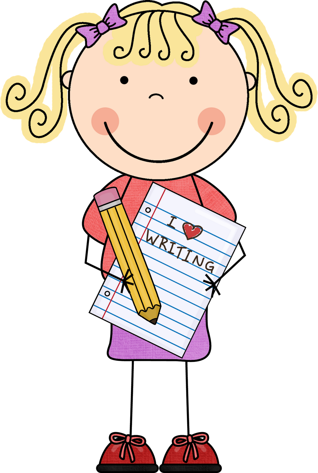 clipart freeuse library Kids letters format images. Children writing clipart.
