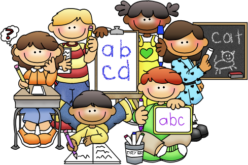 vector library How can i help. Children writing clipart.