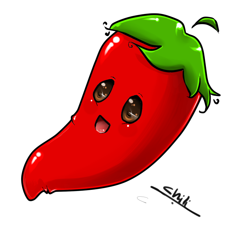 vector library Cute pepper by ladybird. Chili clipart background mexico.