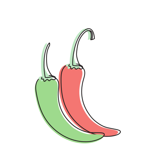svg freeuse download Cayenne Chili Natural Vegetable Nutrition