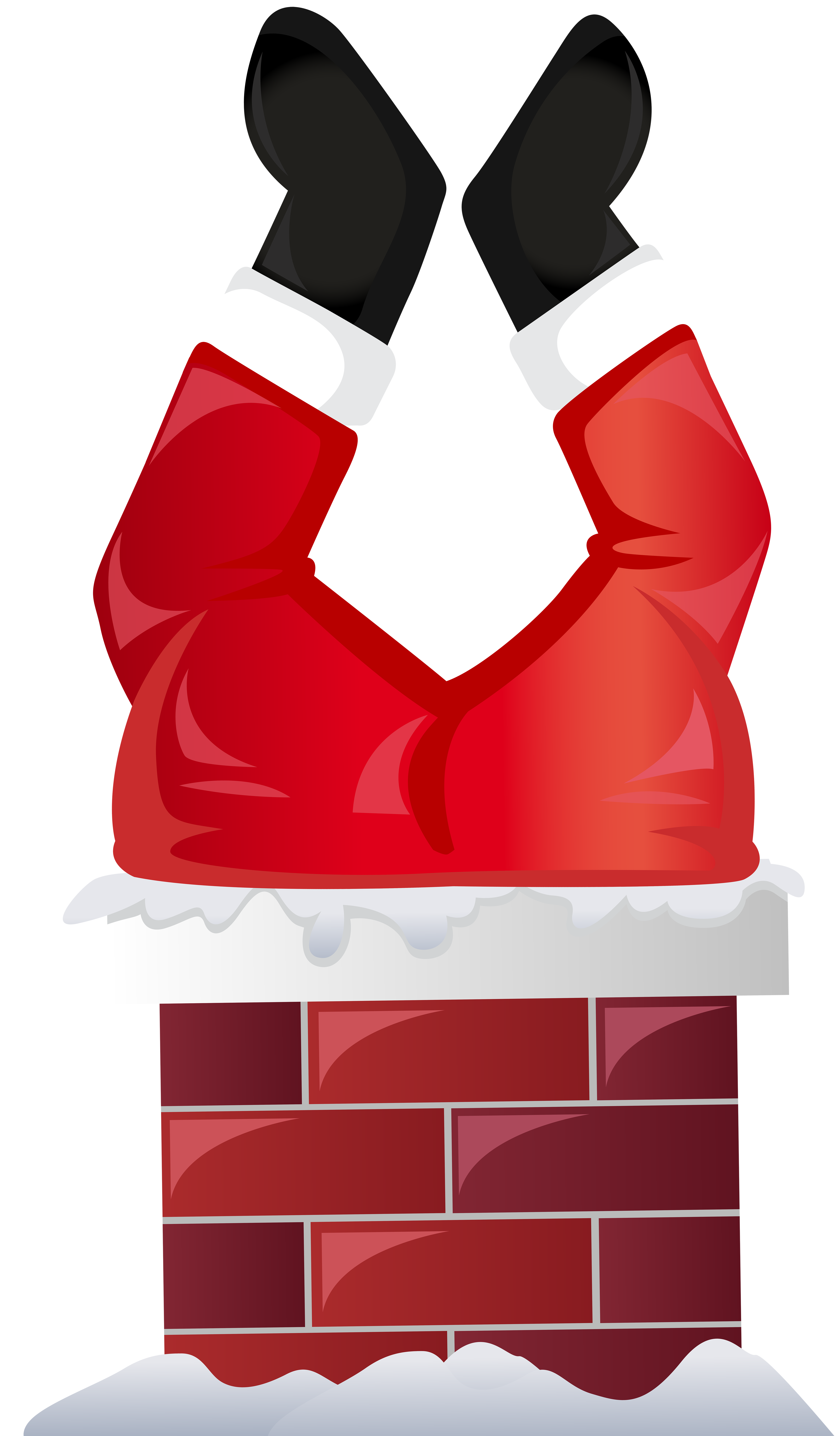 image freeuse library Funny santa in transparent. Chimney clipart