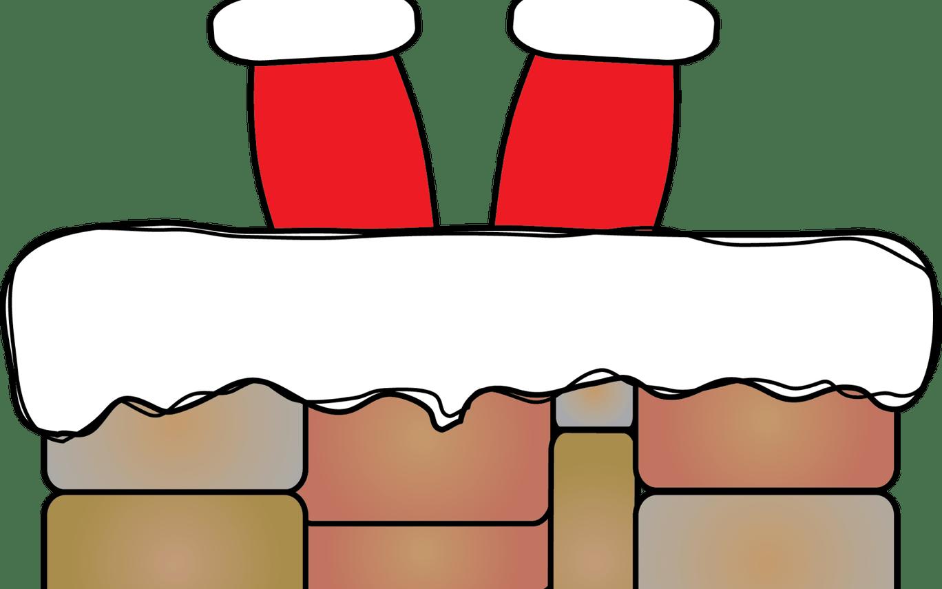 vector transparent Santa down best . Chimney clipart