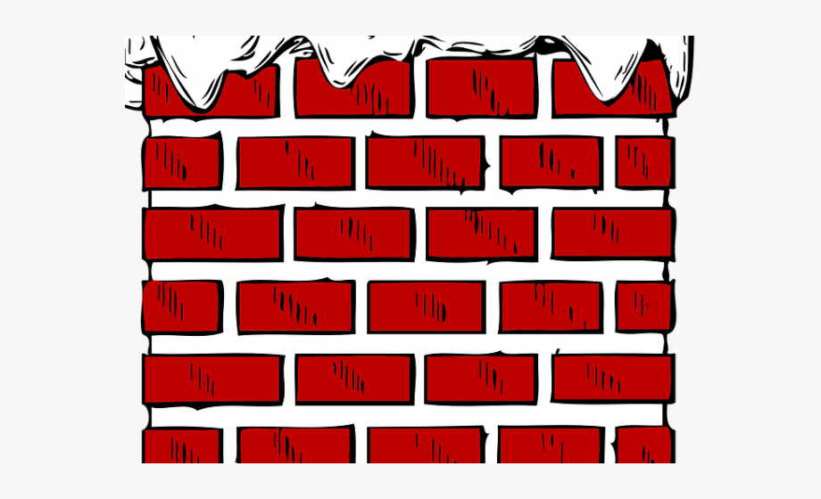 graphic freeuse Wall cartoon with snow. Chimney clipart brick chimney.