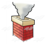 jpg library Chimney clipart brick chimney. A beka book clip.