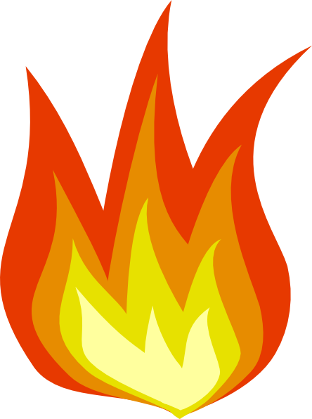 royalty free library Cartoon Fireplace Flames