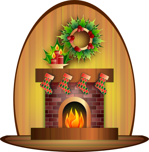 banner royalty free Clip art. Christmas clipart fireplace