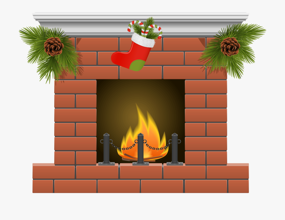 graphic library Chimney clipart hearth. Brick fireplace free .