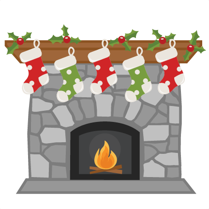 download Christmas Fireplace SVG