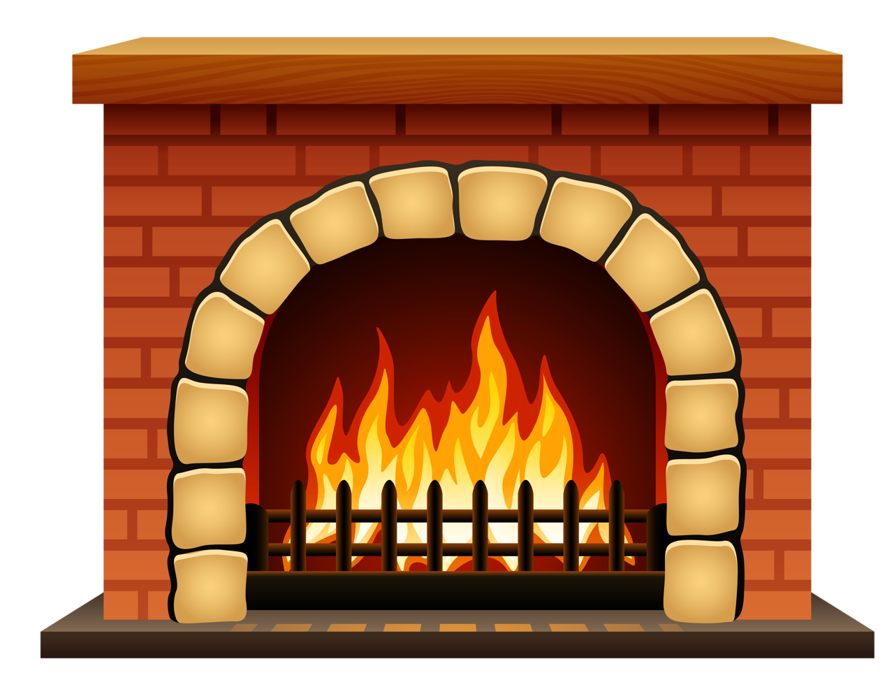 vector royalty free Chimney clipart hearth. Fireplace miniature free on.