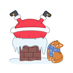 banner free download  collection of santa. Chimney clipart kitchen chimney