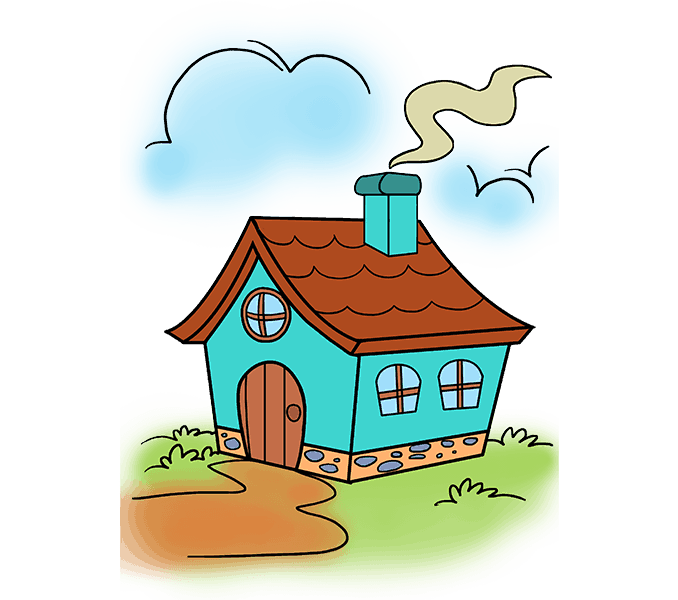 svg free How to Draw a Cartoon House in a Few Easy Steps