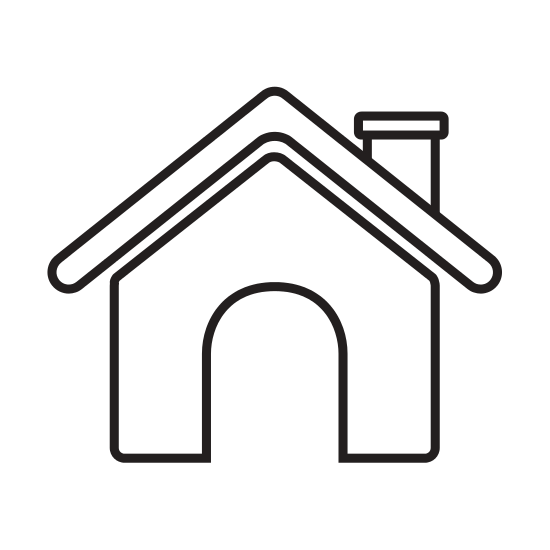 clip art freeuse Contour Roof House and Chimney