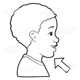 clipart Chin clipart boy side view. Abeka clip art of.