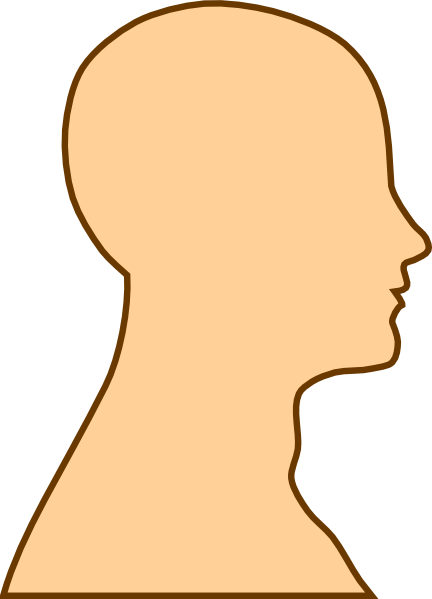 svg freeuse stock Chin clipart boy side view. Face silhouette at getdrawings.