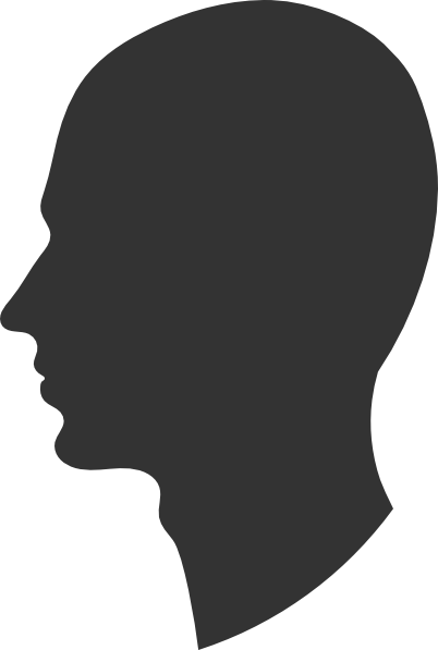 clip download Chin clipart boy side view. Profile silhouette at getdrawings.