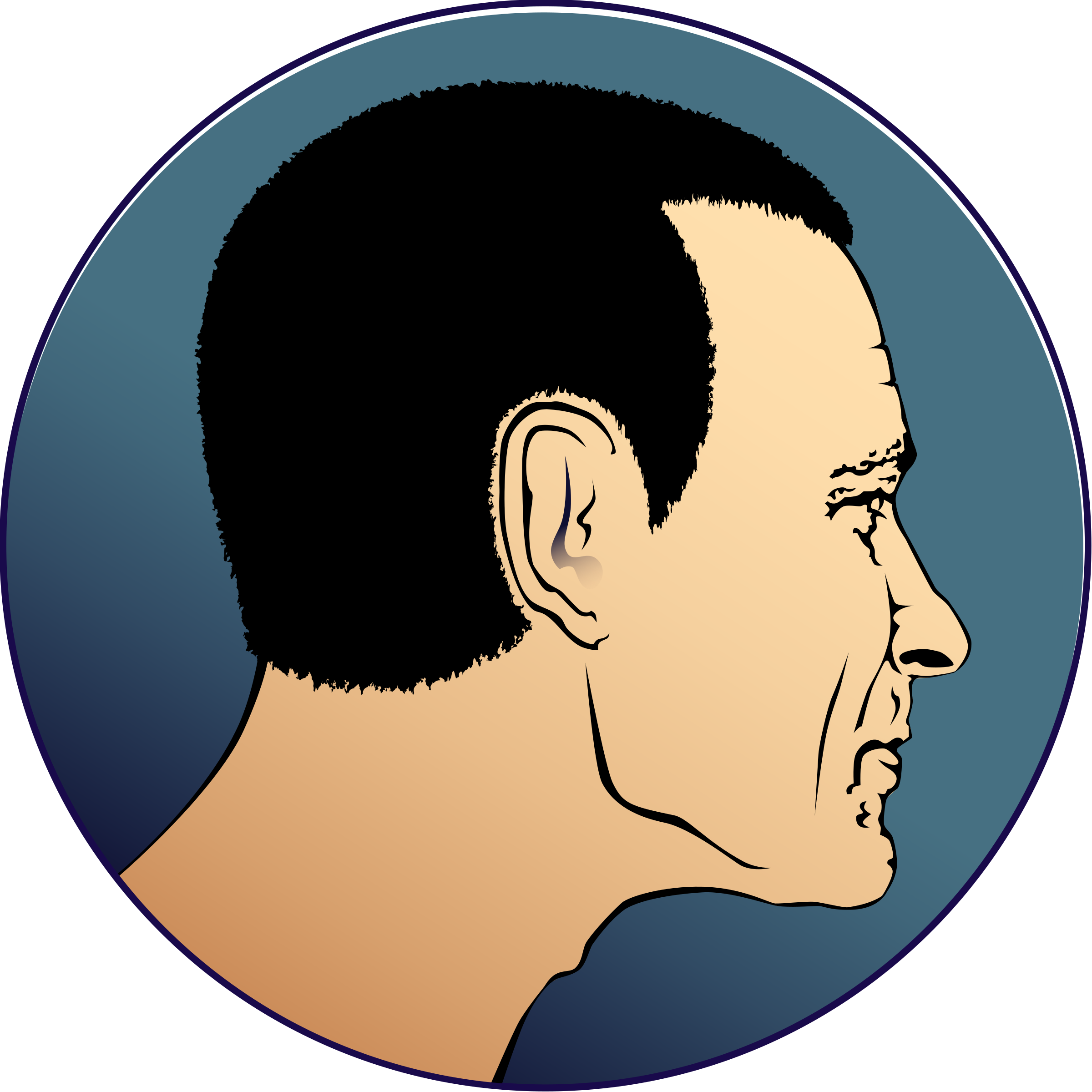vector freeuse Man s head profile. Chin clipart boy side view.