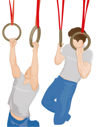 svg free library Pull ups on gym. Chin clipart chin up
