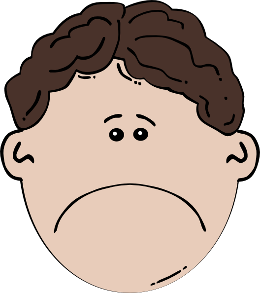 vector free Boy face sad clip. Chin clipart kid.
