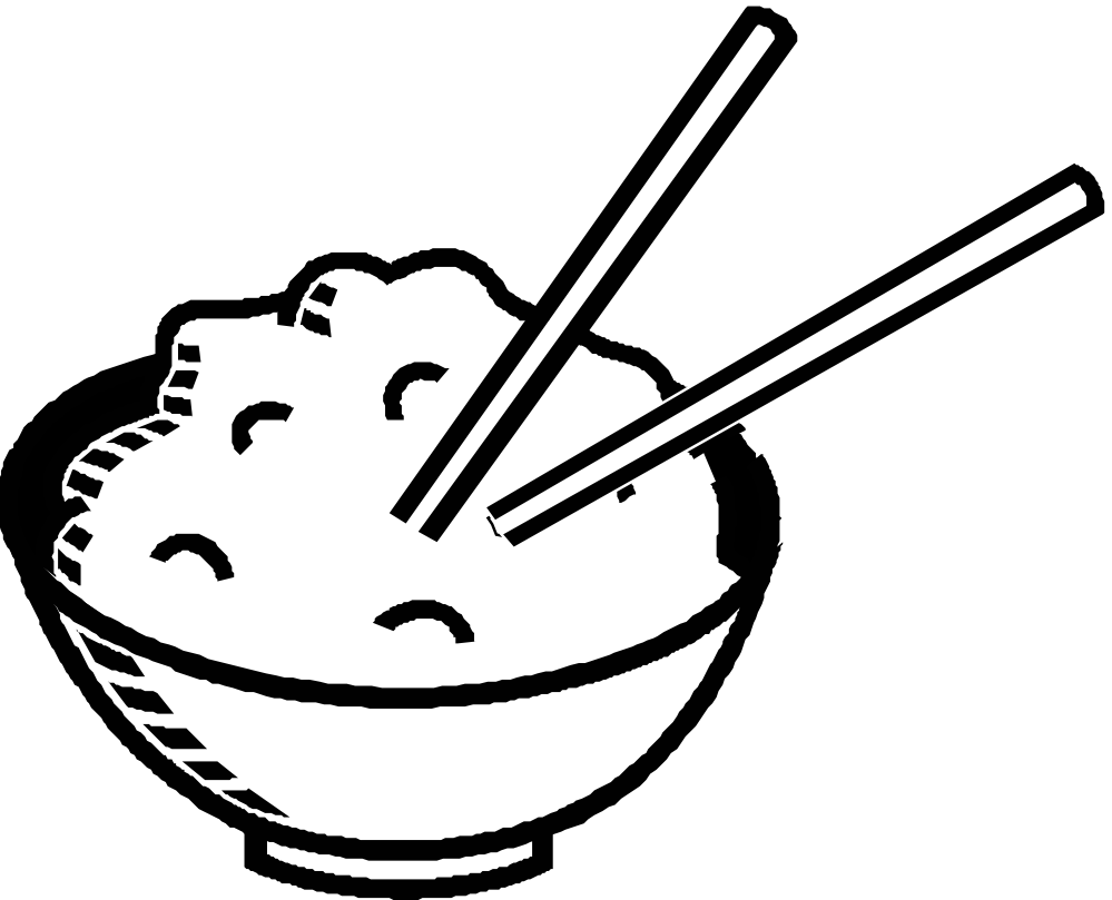 image transparent library Rice Clipart Black And White