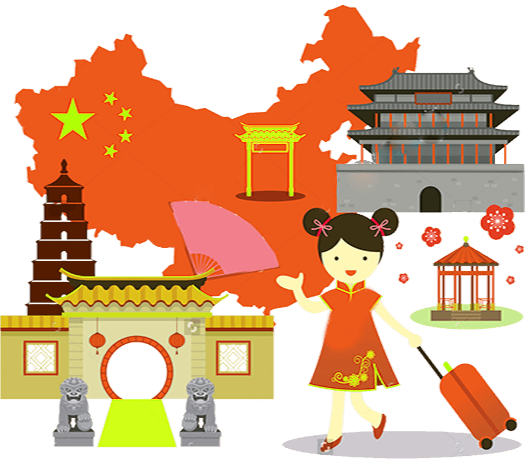 jpg black and white library Tour packages ambassador holidays. China clipart china travel.