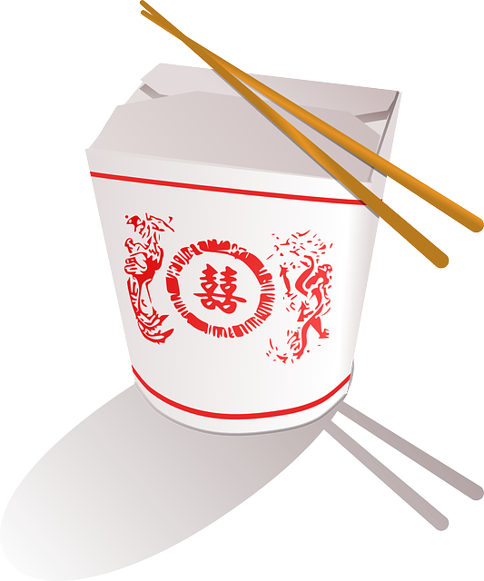 png library library Food box with chopsticks. Chinese clipart chopstick japanese.