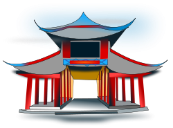 clipart Chinese architecture png . China clipart parade.